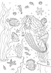 Sirene Coloriages Pour Enfants