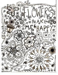 Bouquet De Fleurs Coloriages Pour Enfants