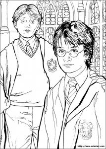 Harry Potter Coloriages Pour Enfants