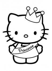 Coloriage Facile Hello Kitty.Hello Kitty Coloriages Pour Enfants