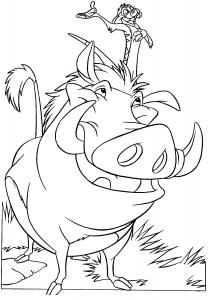 Coloriage licorne rigolote coloriages pour enfants - Coloriage roi lion 2 ...