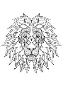Coloriage licorne rigolote facile coloriages pour enfants - Lion dessin facile ...