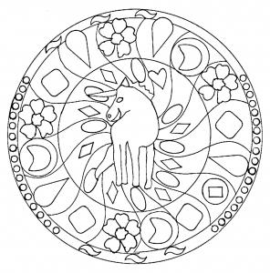 Mandala coloriages pour enfants - Mandala de chevaux ...