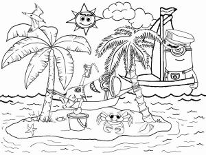 Annees 80 coloriages pour enfants - Dessin d une ile ...