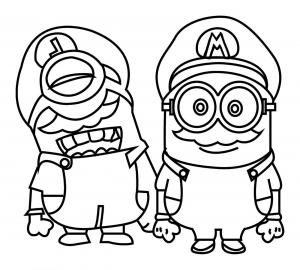 Mario coloriages pour enfants - Coloriage mario luigi ...