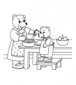 Petit ours brun coloriages pour enfants - Petit ours dessin anime ...