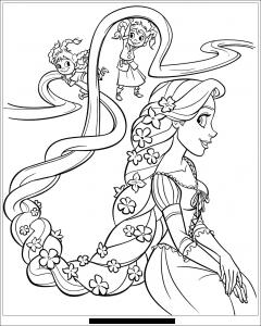 Coloriage De Princesse Raiponce.Raiponce Coloriages Pour Enfants