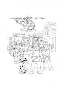 Sam le pompier - Coloriages pour enfants