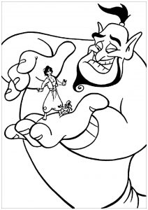 coloring-page-aladdin-(and-jasmine)-to-print-for-free
