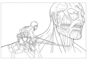 coloring-page-attack-on-titan-for-children