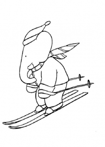 coloring-page-babar-to-download-for-free