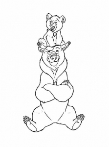 coloring-page-brother-bear-for-kids