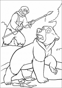 coloring-page-brother-bear-free-to-color-for-children