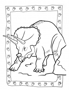 coloring-page-dinosaurs-to-color-for-children : Ceratopsia (Marginocephalia)
