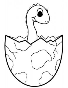 coloring-page-dinosaurs-to-download-for-free : Brachiosaurus egg