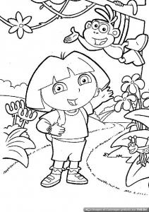 Dora The Explorer To Color For Children Dora The Explorer Kids