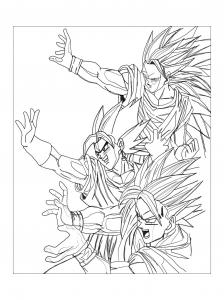 Majin Vegeta Dragon Ball Z Kids Coloring Pages