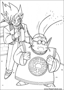 Songoku and Maitre kaio