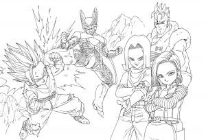 Beerus And Songoku Dragon Ball Z Kids Coloring Pages