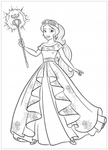 coloring-page-elena-avalor-to-download