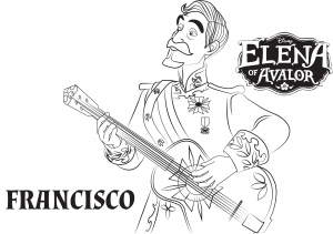 coloring-page-elena-avalor-to-color-for-children