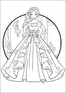 coloring-page-elena-avalor-for-kids