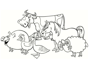 coloring-page-farm-to-color-for-children