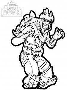 fortnite battle royale rex children coloring sheets - omega coloring pages fortnite