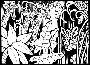 coloring-page-giraffes-free-to-color-for-children