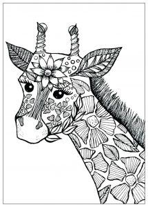 coloring-page-giraffes-to-download-for-free
