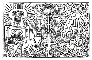 coloring-page-keith-haring-to-color-for-kids