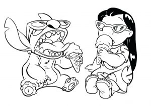 coloring-page-lilo-and-stich-to-print