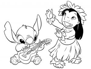 coloring-page-lilo-and-stich-to-color-for-children