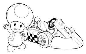 coloring-page-mario-kart-to-color-for-children