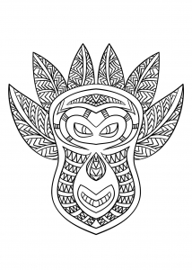 coloring-page-masks-to-color-for-children