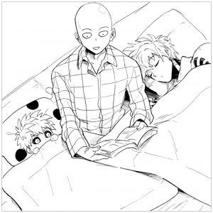 coloring-page-one-punch-man-for-kids