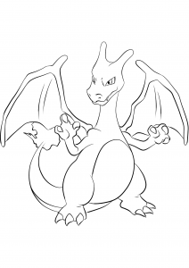 <b>Charizard</b> (No.06) : Pokemon (Generation I)