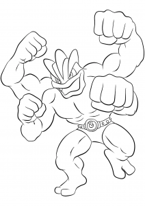 <b>Machamp</b> (No.68) : Pokemon (Generation I)