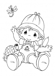 coloring-page-precious-time-free-to-color-for-kids