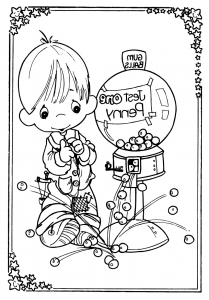 coloring-page-precious-time-for-children