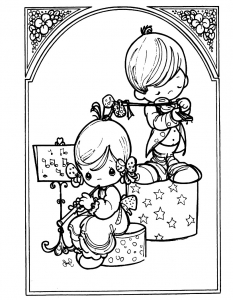 coloring-page-precious-time-to-color-for-children