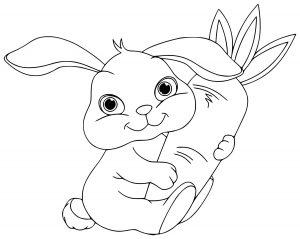 coloring-page-rabbit-for-children