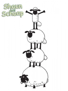 Shaun the sheep to color for children - Shaun The Sheep Kids ...