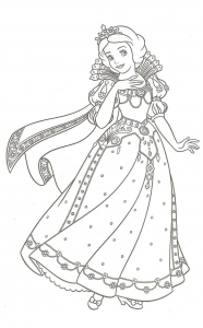 coloring-page-snow-white-free-to-color-for-children