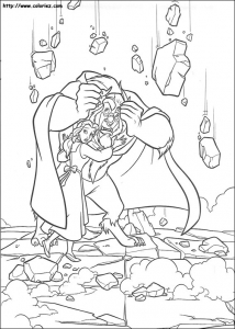 coloring-page-the-beauty-and-the-beast-to-print-for-free