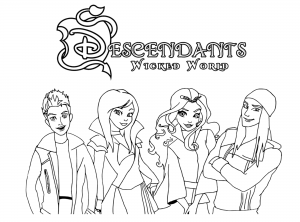 The Descendants To Color For Children The Descendants Kids Coloring Pages