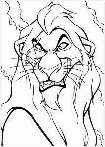 Mufasa With Simba The Lion King Kids Coloring Pages