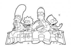 coloring-page-the-simpsons-to-color-for-children