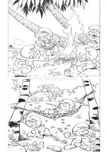 coloring-page-the-smurfs-free-to-color-for-kids
