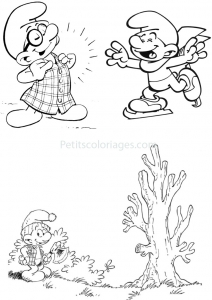 coloring-page-the-smurfs-to-download-for-free